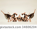 The group of modern ballet dancers 34606204
