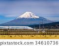 Mt. Fuji and Train 34610736
