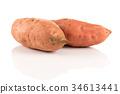 Sweet potato on the white background 34613441