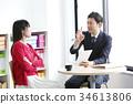비즈니스 상담 판매 권유 사업가 경계 34613806