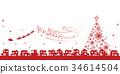 santum, christmas, tree 34614504