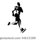 marathon, marathon runner, track and field events 34615289