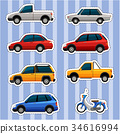 Sticker design for different kinds of vehicles 34616994