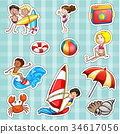 Sticker design for tourists at sea 34617056