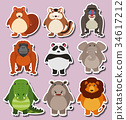 animal cute sticker 34617212