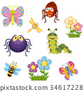 Sticker design with bugs and insects 34617228