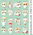 Sticker design for facial expressions 34617235