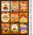 thanksgiving, greeting, card 34618226