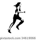 marathon, marathon runner, track and field events 34619066