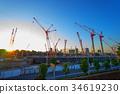 national stadium, constructing, crane 34619230