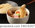 cold chinese noodles, tsukeman, dipping noodles 34619267