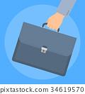 손, 서류, 가방 34619570