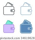 錢包 皮夾 ICON 34619628
