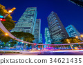 도쿄 신주쿠 빌딩의 야경 34621435