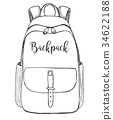 Sketch of a rucksack.  34622188