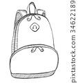 Sketch of a rucksack 34622189