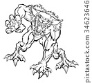 Scary Werewolf  Monster Character 34623646
