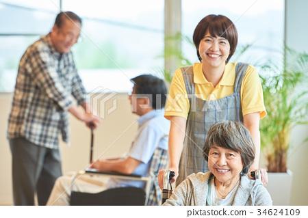 요양 시설 노인 데이 서비스 34624109