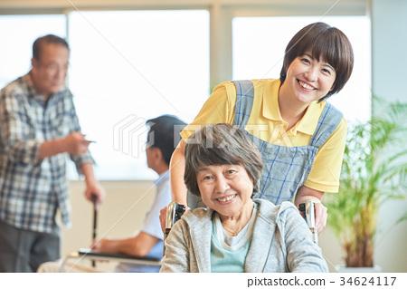 요양 시설 노인 데이 서비스 34624117