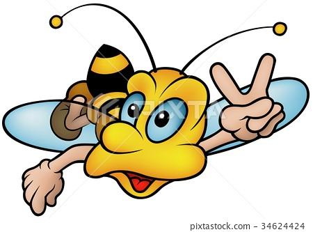 Flying Wasp Gesturing Victor 34624424