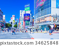 Scenery at the intersection of Tokyo Shibuya Station intersection 34625848