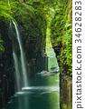 takachihokyo, manai, waterfall 34628283