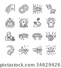 Casino and gamble line icon set.  34629426