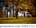 Family vacation travel, holiday trip in motorhome 34631121