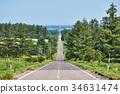 kiyosato, road, hill 34631474
