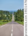 kiyosato, road, hill 34631476