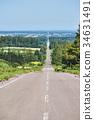 kiyosato, road, hill 34631491