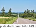 kiyosato, road, hill 34631493