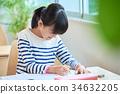 초등학생 수업 이미지 34632205