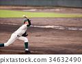棒球 投手 投球 34632490