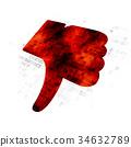 Social media concept: Thumb Down on Digital 34632789