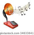 antique, entertainment, horn 34633641