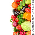 fruit and vegetable isolated on white background 34633648