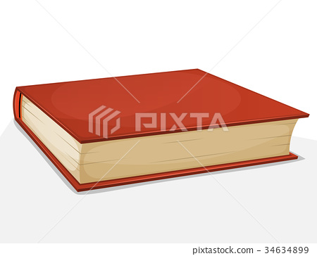 Red Book Isolated On White 34634899