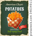 Retro Fast Food Fried Potatoes Poster 34634911