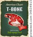 poster, steak, t-bone 34634913