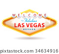 Welcome To Fabulous Las Vegas Sign 34634916