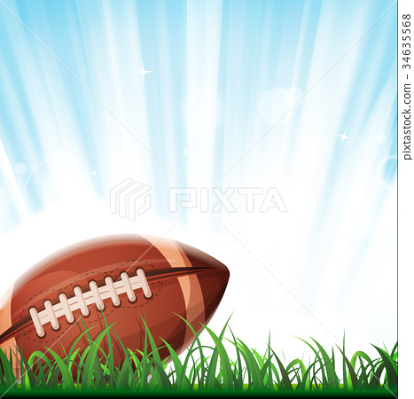 American Football Background Stock Illustration 34635568