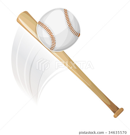 Baseball Bat Hitting Ball 34635570