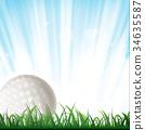 Golf Ball Background 34635587