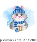 卡通 可愛 杯子 34635989