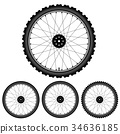 Bicycle wheel isolated on white 34636185