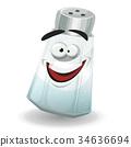 Happy Salt Shaker Character 34636694