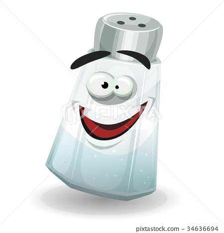 Happy Salt Shaker Character 34636694