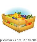 Basket Of Healthy Organic Fruits 34636706