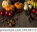 가을, 호박, 사과 34638172